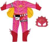 Mega Mindy - Carnavalskleding - Inclusief Masker