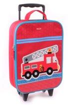 Kidzroom BRANDWEER AUTO Kinder Koffer Trolley Handbagage Brandweerwagen