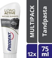 Prodent Tandpasta Prodent Long Active™ Nature Elements Charcoal White & Detox 12x75ml