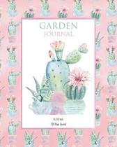 Garden Journel - PINK CACTUS: 120 Page garden planner and journal - 8x10 inch