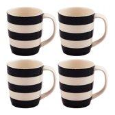 Cornishware Mugs Black 12oz/34cl (set van 4)