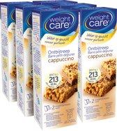 Weight Care ontbijtreep Cappuccino 6x2 stuks - voordeelverpakking