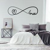 Muursticker Infinity Love Met Hartje -  Groen -  120 x 34 cm  - Muursticker4Sale