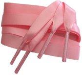 Smalle Roze satijnen zijden schoenveters 120cm MrLacy