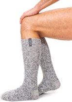 Soxs Stoere Wollen Sokken voor Heren SOX3162 Jet black - Grijs - Heren - Maat 42-46