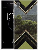 Sony Xperia XA1 Plus Hoesje Forest wood