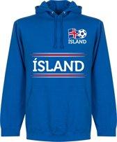 IJsland Team Hooded Sweater - Blauw - L