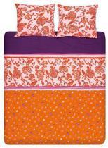 Cinderella Loraine - Dekbedovertrek - Oranje - Lits-jumeaux (240x200/220 cm + 2 slopen)