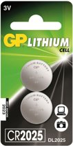 GP Lithium Cell CR2025 Duopack