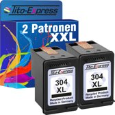PlatinumSerie® 2 x cartridge alternatief voor HP 304 XL black
