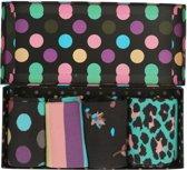 Happy Socks Big Dot Giftbox Sokken - Paars/Blauw/Multi - Maat 41-46