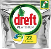 Dreft Platinum Citroen - 22 Stuks - Vaatwastabletten
