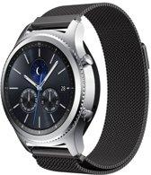 Milanees bandje Zwart geschik voor Samsung GEAR S3 & Galaxy Watch 46mm - SmartphoneClip.nl