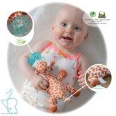 MijnNami Speenknuffel Giraffe - Eco-vriendelijk - BPA Vrij - Speen Knuffel