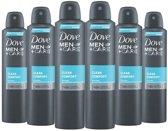 6x  Dove Men + Care Deospray  Clean Comfort - Voordeelverpakking 6x250 ml