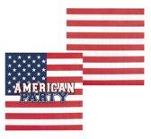 Set 12 Servetten USA (33 x 33 cm)