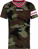 Vingino Jongens T-shirt - Camouflage Green - Maat 176