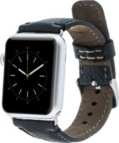 Bomonti Leather Leren bandje - Apple Watch Series 1/2/3 (38mm) - Zwart