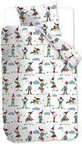 Beddinghouse Kids Gnomes Dekbedovertrek - eenpersoons - 140x200/220 - Blauw