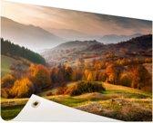 Rhodopean landschap Tuinposter 60x40 cm - klein - Tuindoek / Buitencanvas / Schilderijen voor buiten (tuin decoratie)