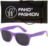 Fako Fashion® - Zonnebril - Wayfarer - Classic - Paars