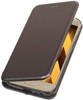 BestCases.nl Grijs Premium Folio leder look booktype smartphone hoesje voor Samsung Galaxy A5 2017 A520