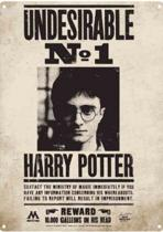 "Harry Potter as ""Undesirable No 1""  Metalen wandbord 15 x 21 cm."