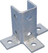 ERIC hoekverbinder montagerail ERISTRUT\xae, staal, (lxb) 134x100mm