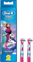 Oral-B Stages Power met Disney Frozen Figuren - 2 Stuks - Opzetborstels