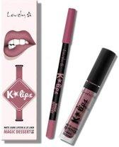Lovely K-Lips Matte Liquid Lipstick & Lip liner Magic Dessert