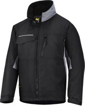 Snickers Workwear winterjack - Craftsmens -  Zwart/grijs - mt.L