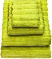 Bambussa handdoek lime - 30 x 50 cm in set van 2