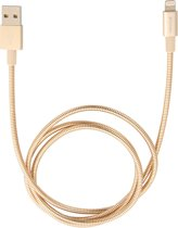 Verbatim Lightning roestvrij stalen synchronisatie- & oplaadkabel 100 cm goudkleurig
