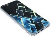 Geometrisch vormen hoesje zwart iPhone 8 Plus / 7 Plus