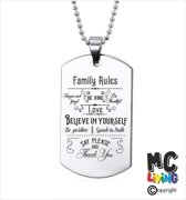 Ketting RVS - Family Rules