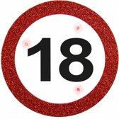 Badge 18 Jaar Verkeersbord met verlichting 12cm
