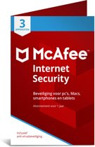 McAfee Internet Security - Multi-Device - 3 Apparaten - 1 Jaar - Nederlands - Windows / Mac Download