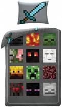 Minecraft Monsters Dekbedovertrek - Eenpersoons - 140 x 200 cm - Multi