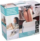 Elektrische voetenwarmer - 3 warmtestanden - fleece en polar - automatische uitschakeling