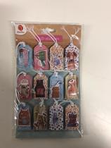 9 stuks - 3d sticker - blauw teckel