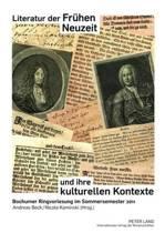 Literatur Der Fruehen Neuzeit Und Ihre Kulturellen Kontexte