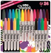 Sharpie permanent marker fine point, 80's Glam, Set van 24 stuks.