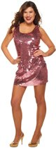 Disco-Paillettenjurkje roze - Carnavalskleding