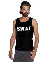 S.W.A.T tekst singlet shirt/ tanktop zwart heren S