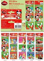 Disney mini kerstkaarten 9 pakjes met 12 kaarten 8,5x8,5cm