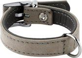 Adori Halsband Nubuck Grijs - Hondenhalsband - 14mmx25 cm