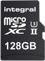 Integral 128GB microSDXC flashgeheugen Klasse 10 UHS-II