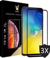 3x Samsung Galaxy S10e Screenprotector Glazen Gehard | Full Screen Cover Volledig Beeld | Tempered Glass van iCall