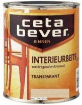 Cetabever Interrieurbeits - Transparant - Acryl -Licht Walnoot 0521 - 0,75 liter