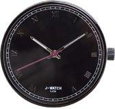 JU'STO J-WATCH uurwerk Roman Numerals Black